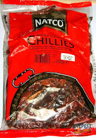 Natco Whole Stemless Chillies 200gm