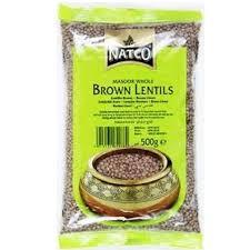 Natco Brown lentils 500 g