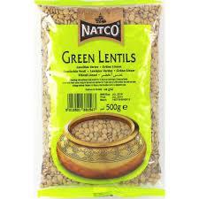Natco green lentiles 500g